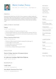 optimal resumes nanny resume templates 2019 free download resume io