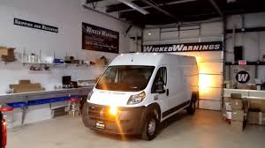 Ram Promaster Light Bar Dodge Promaster Van Led Strobe Lights Install Www Wickedwarnings Com