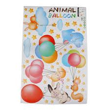 cartoon animal balloon wall sticker