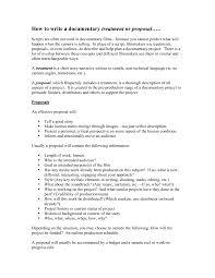 Film Proposal Template Template Film Proposal Template How To Write A Documentary Film 16