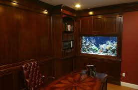 aquarium furniture design. formal home office ideas with wooden aquarium stand design and leather tufted chair furniture