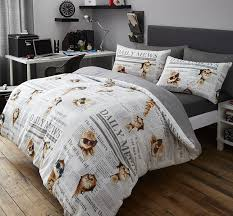 cute cats newspaper print duvet cover set double bed size novelty animals kittens cute pets quilt bedding hallways co uk kitchen home