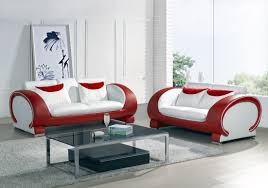 ... Beautiful Red And White Couch Red Sofa ...