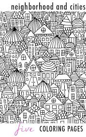 Neighborhood And Cities 5 Coloring Pages Print It Coloring Pages