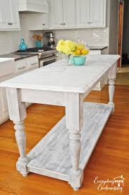Kitchen Free Standing Islands Remodelaholic White Kitchen Overhaul With Diy Marble Island