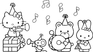 Hello Kitty Music Coloring Pages Printable Coloring Page For Kids