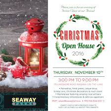 christmas open house flyer 7th annual christmas open house 2016 seaway farms