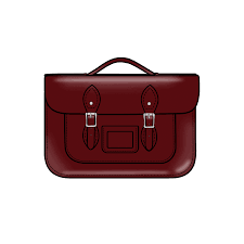 14 inch briefcase satchel in patent oxblood red leather