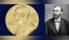 Image result for alfred nobel writing the will