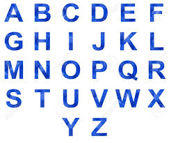 Blue Letters Set Of Blue Icy Letters Of English Alphabet