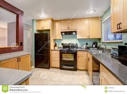 Light Wood Cabinets Kitchen American Light Wood Kitchen Interior Stock Photo Image 57329535