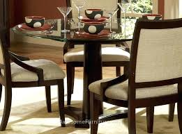 furniture stunning round glass dining table design maximizing dining table glass top round dining table glass