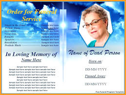 What Is A Pamphlet Sample Funeral Pamphlet Template Funeral Program Template Free Download