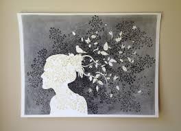 Art For Non Artists Rainy Day Art Project Silhouette Self Portrait Fuzzygrapefruit
