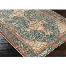 hillsby navy orange area rug by and blue oriental