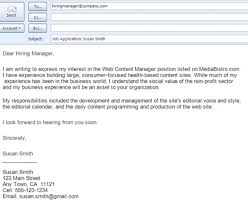 Sample Email To Apply For A Job Best Formats For Sending Job Search Emails Professional