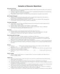 Sample Objectives In Resume Example Of Objective For Resume Work ...