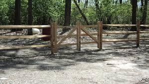 split rail wood fence gate. Split Rail Double Gate Installation Wood Fence