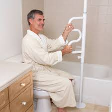 bathroom safety for seniors. Install A Floor-to-ceiling Vertical Rod With Grab Bars Referred To As Security Pole That Is Easy Place Near The Shower/tub Or Toilet For Support Bathroom Safety Seniors .