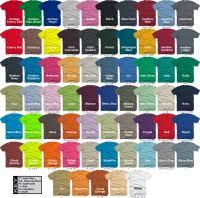 Gildan Shirt Color Chart 2016 2018 Gildan Color Chart Gildan Color Chart 2018