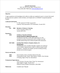 graduate nurse resume medical surgical nursing resume