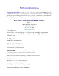 Architectural intern resume samples visualcv database samples