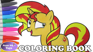 Books Sunset Shimmer Coloring