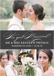 Wedding Announcement Photo Cards Wedding Announcements Just Married Designs By Basic Invite