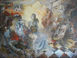 Реалистичные и мифологические темы выпускников художников  Реалистичные и мифологические темы выпускников художников