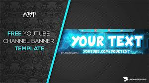 youtube channel banners youtube banner creator gaming business template