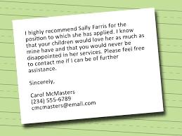 Employment Reference Letter For Nanny Docoments Ojazlink
