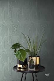 Met Dit Prachtige Behang Met Origami Motief In Petrolblauw Haal Je