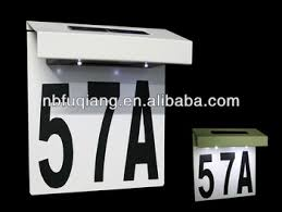 fq533 solar led lighted address signs house number plaques doorplate light led address sign r9