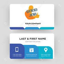 Good Job Template Good Job Business Card Design Template Visiting For Your Company