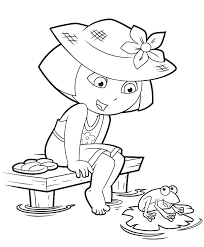 Small Picture Dora And Diego Coloring Pages Coloring Home