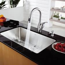 kraus khu100 30. Kraus KHU100-30-KPF2121-SD20 30 Inch Undermount Single Bowl Stainless Steel Kitchen Sink With Faucet And Soap Dispenser | ExpressDecor.com Khu100