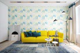 Decorations:Blue And Yellow Scandinavian Color Scheme In Dining Room With  Blue Walls And Yellow