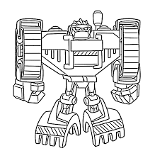 boulder the bot rescue bots coloring pages