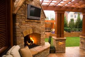 outdoor fireplace with tv ideas 236dd401c9c e687cd2d0deb