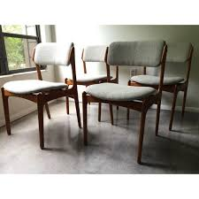 dining room chair height vine erik buck o d mobler danish dining chairs set of 4