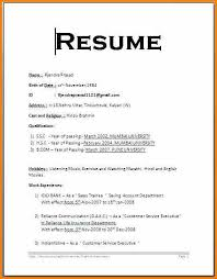 Resume Format Examples Best Basic Resume Format For Freshersresume Examples Format Of Resume