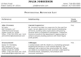 Professional References List Template resume reference list template medicinabg 60