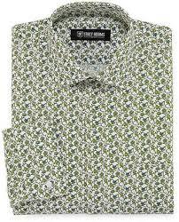 Patterned Dress Shirts Stunning Mens Green Patterned Dress Shirts ShopStyle