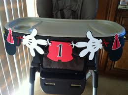 i am 1 1st birthday high chair banner mickey mouse clubhouse 12 00 via