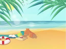 Summer Beach Powerpoint Templates Blue Holidays Nature Free
