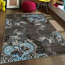 allstar rugs blue grey area rug reviews wayfair ca inside brown and decor 6
