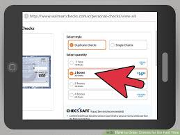 4 Ways To Order Checks For The First Time Wikihow