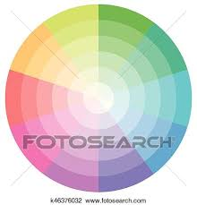 Palette Pastel Colors Vector Pie Chart Clipart K46376032