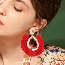 <b>2019 New</b> Ethnic <b>Tassel Earrings</b> for Women Lady Big Fringed ...