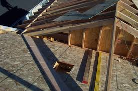 two diffe exles for installing home addition roof sheathing soffit and exposed rafter eaves